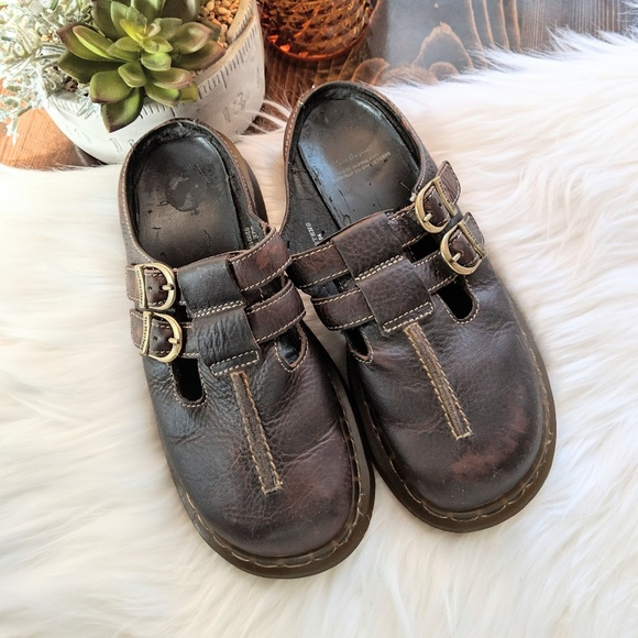 Doc Martens Leather Slides Sandals Men 6 Wom 8 b477c2b55